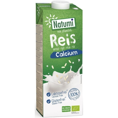 Natumi Napój ryżowy z wapniem bez glutenu 1l BIO